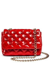 Betseyville by Betsey Johnson Betseyville Faux Leather Betseyville Faux Leather Quilted Crossbody Handbag With Studs And Chain Strap