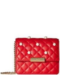 Moschino Boutique Quilting And Pearls Crossbody Cross Body Handbags
