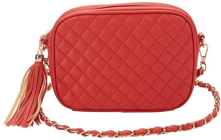 $18, Charlotte Russe Quilted Crossbody Bag