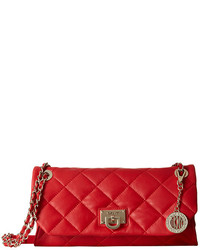DKNY Gansevoort Quilted Envelope Clutch W Adjustable Chain Handle