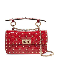 Valentino Garavani The Rockstud Spike Small Quilted Patent Leather Shoulder Bag