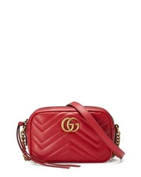 Gucci Gg Marmont 20 Matelasse Leather Shoulder Bag