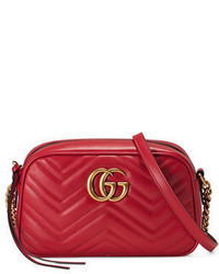 Gucci Gg Marmont 20 Small Quilted Camera Bag