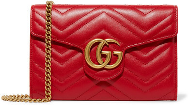 53afa1ecf8cd Gucci Gg Marmont Quilted Leather Shoulder Bag Red, $1,300 | NET-A ...