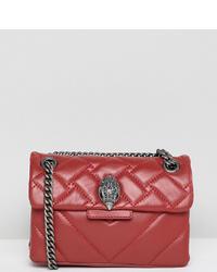 Kurt Geiger London Kurt Geiger Mini Kensington Red Leather Cross Body Bag With Chain