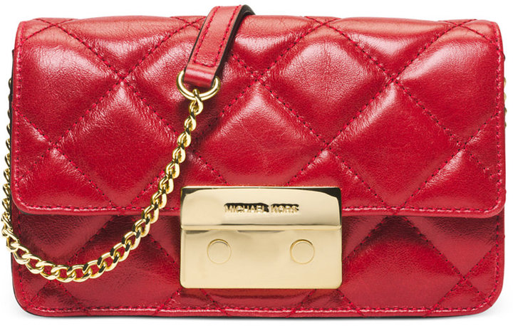 86860e4e686e ... Quilted Leather Crossbody Bags MICHAEL Michael Kors Michl Michl Kors  Sloan Chain Crossbody ...