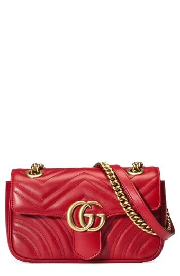 5b863ae355d ... Gucci Mini Gg Marmont 20 Matelasse Leather Shoulder Bag