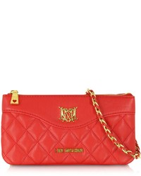 Love Moschino Moschino Quilted Eco Leather Double Clutch Wshoulder Strap