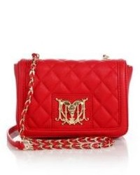 Love Moschino Quilted Faux Leather Crossbody Bag