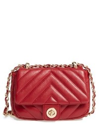Quilted Faux Leather Crossbody Bag Pink