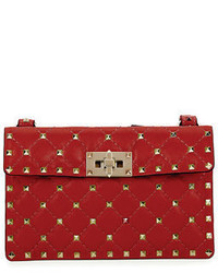 Valentino Rockstud Quilted Leather Crossbody Bag