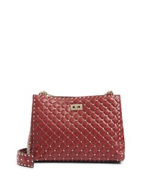 Valentino Garavani Rockstud Spike Quilted Lambskin Leather Shoulder Bag