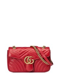 Gucci Small Gg Marmont 20 Matelasse Leather Shoulder Bag