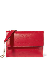 Lanvin Sugar Mini Quilted Leather Shoulder Bag Crimson