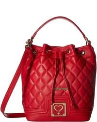 Love Moschino Superquilted Bucket Handbags