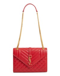 Saint Laurent Medium Cassandre Calfskin Shoulder Bag