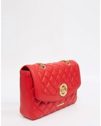 Love Moschino Quilted Shoulder Bag In Red