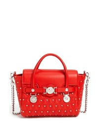 743760260a Women s Red Leather Satchel Bags by Versace