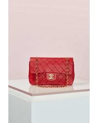 Chanel Vintage 255 Red Leather Bag