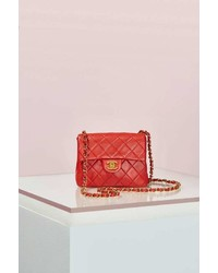 Chanel Vintage Quilted Red Leather Bag