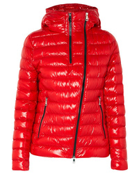 Moncler Hooded Quilted Glossed Shell Down Jacket