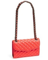 Red Quilted Satchel Bag