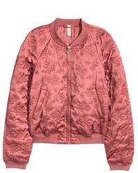 Quilted bomber jacket medium 5031944