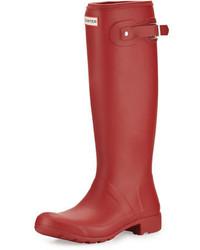 Boot original tour packable rain boot military red medium 688254