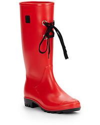 dav Lace Up Rain Boots