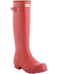 Hunter Military Red Rubber Bucklestrap Rain Boots