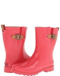 Top solid mid gloss rain boots medium 22439