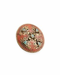 Antiqued turquoise coral statet ring medium 5207664