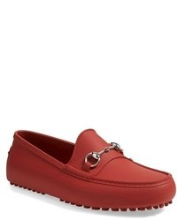 Red Rubber Driving Shoes