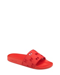 Gucci Pursuit Gg Logo Slide Sandal