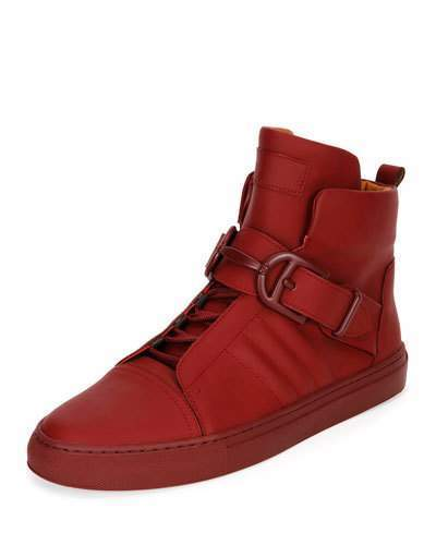 Bally Heilwing Rubberized Leather High