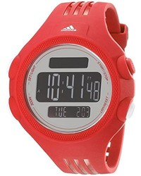 adidas Adp3134 Stainless Steel Watch With Red Polyurethane Band