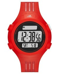 adidas Performance Adidas Originals Questra Rubber Strap Watch 42mm Red