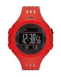 adidas Performance Adidas Originals Questra Xl Rubber Strap Watch 53mm Red