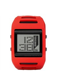 Diesel Digital Red Silicone Watch Dz7226