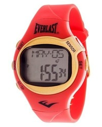 Everlast Heart Rate Monitor Watch Red