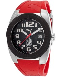 Puma Ocean Race Red Silicone Black Dial