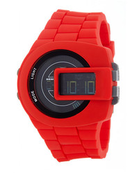 Diesel Viewfinder Digital Silicone Strap Watch