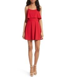 Alice + Olivia Kipp Layered Ruffle Short Dress