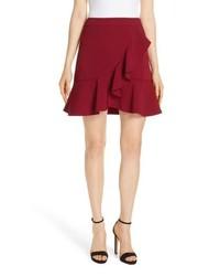 Alice + Olivia Juno Ruffled A Line Miniskirt