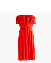 J.Crew Off The Shoulder Ruffle Dress