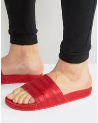 adidas Originals Adilette Slides In Red Bb3112