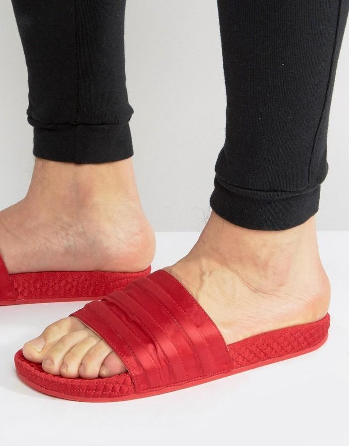 25660049c95b6 ... adidas Originals Adilette Slides In Red Bb3112 ...