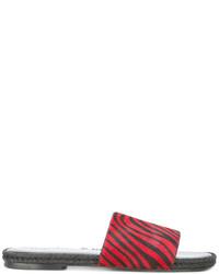 Haider Ackermann Zebra Pattern Sandals