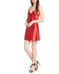 Red Satin Cami Dress