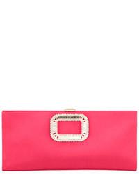 Pilgrim small satin clutch bag strawberry medium 3697681